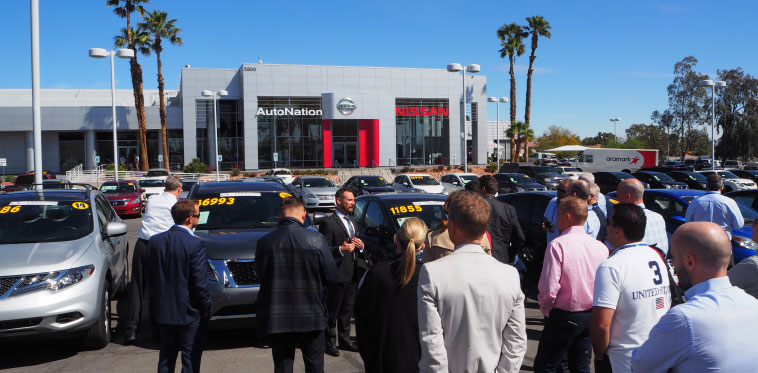 AADA NADA Study Tour Delegates on a dealership tour at AutoNation Nissan Las Vegas